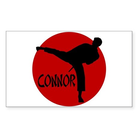 -Connor Karate Rectangle Sticker