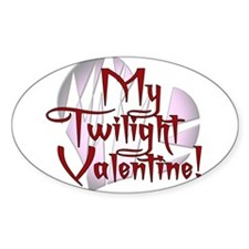 My Twilight Valentine Oval Decal