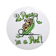 Peas in a Pod! Ornament (Round)