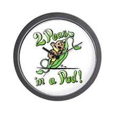 Peas in a Pod! Wall Clock