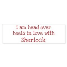 In Love with Sherlock Bumper Car Sticker