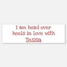 In Love with Tessa Bumper Car Car Sticker