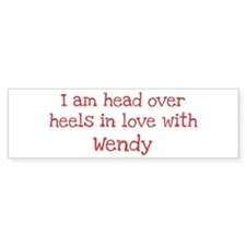 In Love with Wendy Bumper Car Car Sticker