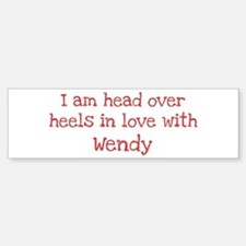 In Love with Wendy Bumper Car Car Sticker