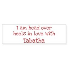 In Love with Tabatha Bumper Car Sticker