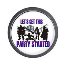Party Started Wall Clock
