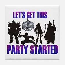 Party Started Tile Coaster