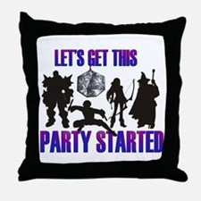 Party Started Throw Pillow