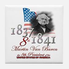 8th President - Tile Coaster