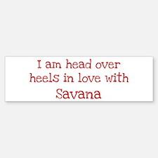 In Love with Savana Bumper Car Car Sticker