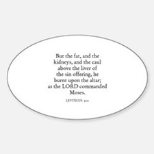LEVITICUS 9:10 Oval Decal