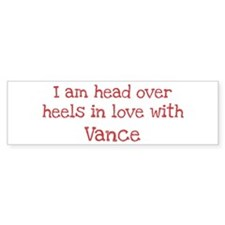 In Love with Vance Bumper Car Sticker
