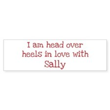 In Love with Sally Bumper Car Sticker