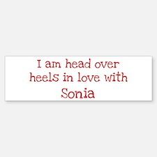 In Love with Sonia Bumper Car Car Sticker