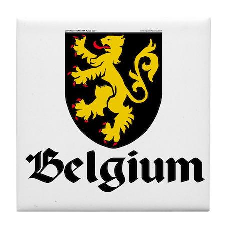 Belgium: Heraldic Tile Coaster