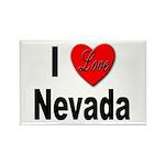 I Love Nevada Rectangle Magnet (10 pack)