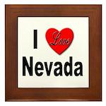 I Love Nevada Framed Tile