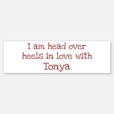 In Love with Tonya Bumper Bumper Bumper Sticker