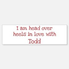 In Love with Todd Bumper Car Car Sticker