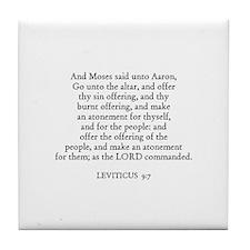 LEVITICUS  9:7 Tile Coaster