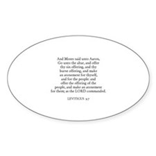 LEVITICUS 9:7 Oval Decal