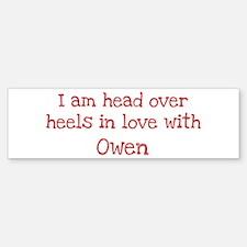 In Love with Owen Bumper Car Car Sticker