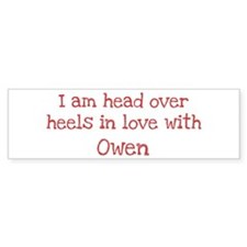In Love with Owen Bumper Car Sticker