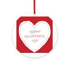 Homemade Look Valentine Ornament (Round)