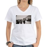 Rawhide Nevada Main Street Women's V-Neck T-Shirt