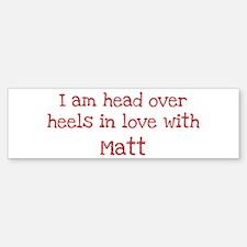 In Love with Matt Bumper Car Car Sticker