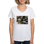 Mott Street Italian Shop Women's V-Neck T-Shirt