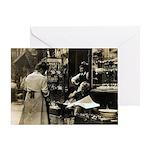 Mott Street Italian Shop Greeting Card