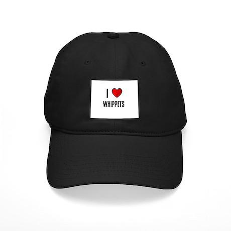 I LOVE WHIPPETS Black Cap