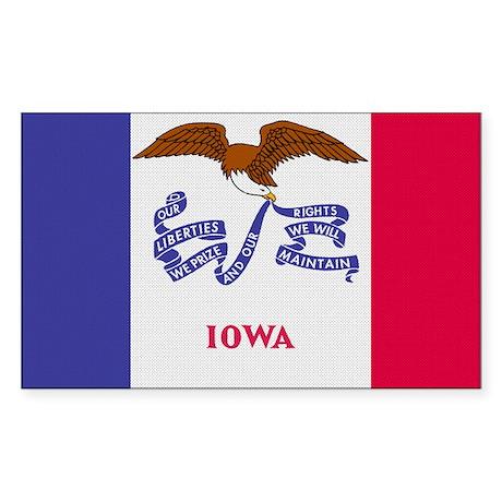 Beloved Iowa Flag Modern Styl Rectangle Sticker