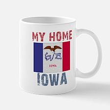 My Home Iowa Vintage Style Mug