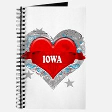 My Heart Iowa Vector Style Journal