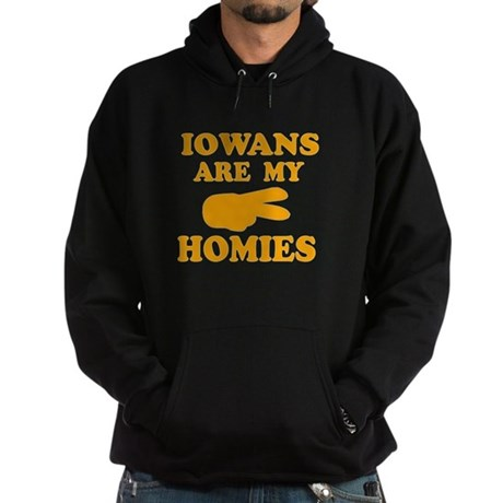 Iowans are my homies Hoodie (dark)
