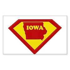 Super Star Iowa Rectangle Decal