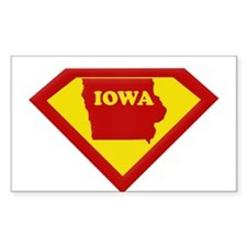 Super Star Iowa Rectangle Stickers