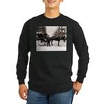 New York Hansom Driver Long Sleeve Dark T-Shirt