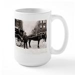 New York Hansom Driver Large Mug