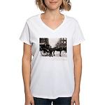 New York Hansom Driver Women's V-Neck T-Shirt