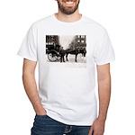 New York Hansom Driver White T-Shirt