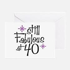 Still Fabulous at 40 Greeting Cards (Pk of 10)