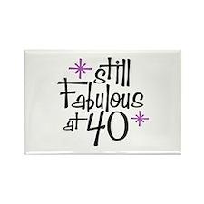 Still Fabulous at 40 Rectangle Magnet