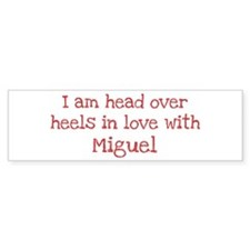 In Love with Miguel Bumper Car Sticker