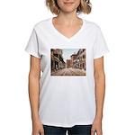 St. Charles St. New Orleans Women's V-Neck T-Shirt