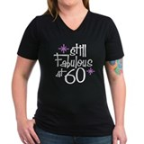 60th birthday Womens V-Neck T-shirts (Dark)
