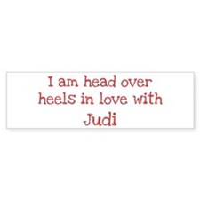 In Love with Judi Bumper Car Sticker
