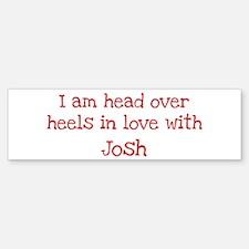 In Love with Josh Bumper Car Car Sticker